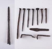 철제 창, 관못, 손칼, 꺽쇠