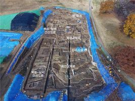 몽촌토성 북문지 내측 발굴조사 전경